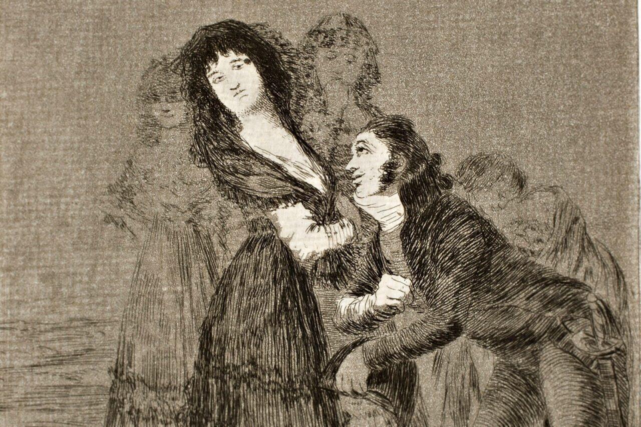 Capricho Goya cortejo