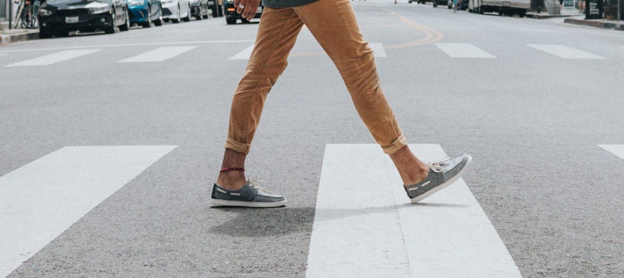 Caminar paso cebra
